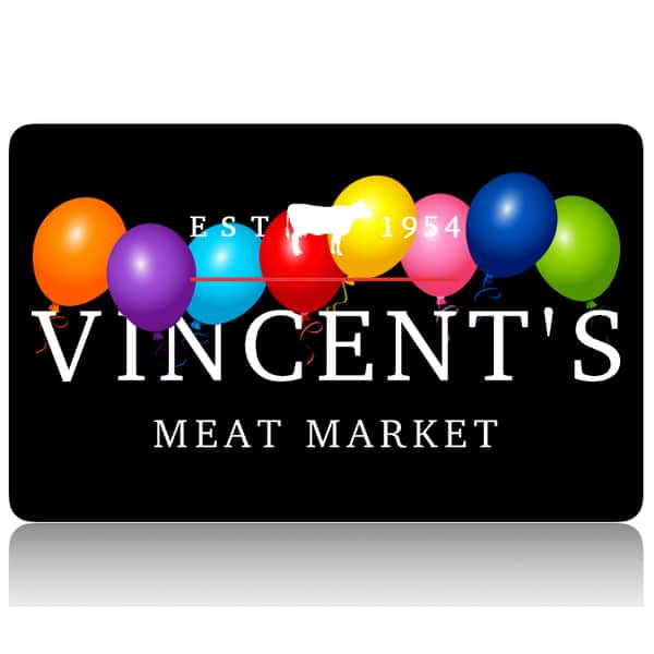 vincent's meat market birthday giftcard