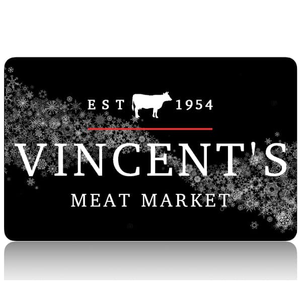 vincent's meat market snowflake giftcard