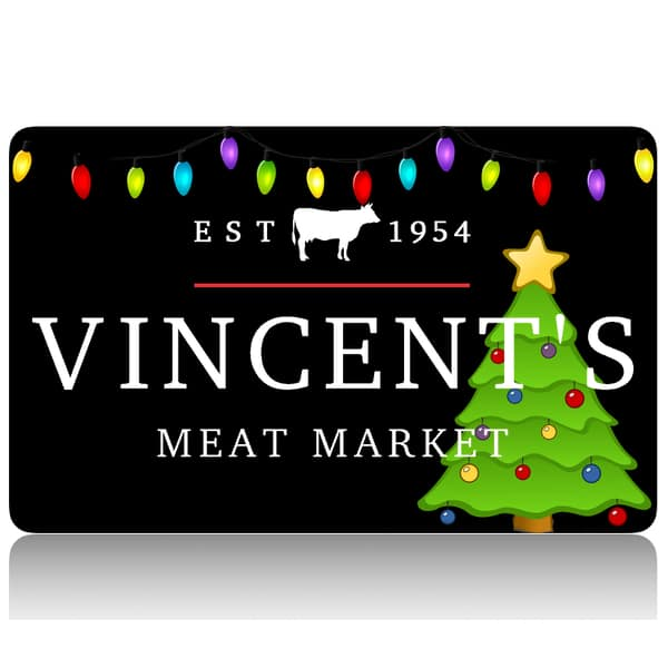 vincent's meat market christmas giftcard